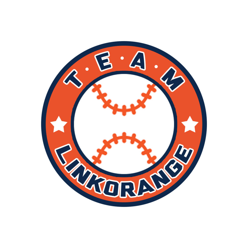 A baseball team logo. With the dominant hue orange, we can feel the passion from this logo and the team members behind it. And there is a baseball factor in it, so we could judge it is a logo for the baseball team but not other team logos.
