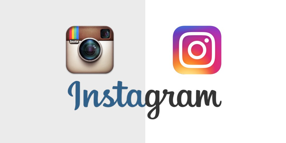 The logo change and trend of Instagram